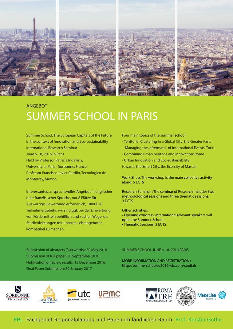 Summerschool Paris